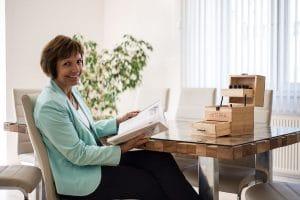 Kathrin Kraenkl in her Odeur office
